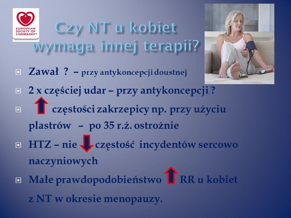  Zawał . – przy antykoncepcji doustnej  2 x częściej udar – przy antykoncepcji .