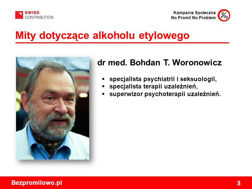 Kampania Społeczna No Promil No Problem Bezpromilowo.pl 3 Mity dotyczące alkoholu etylowego dr med.