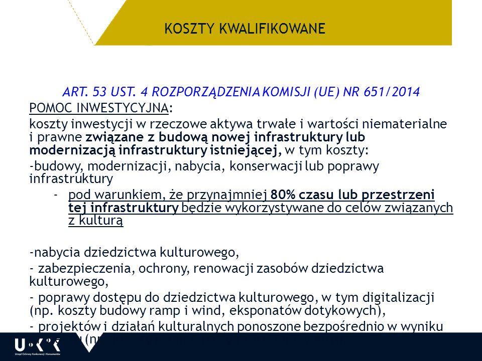 KOSZTY KWALIFIKOWANE ART. 53 UST.