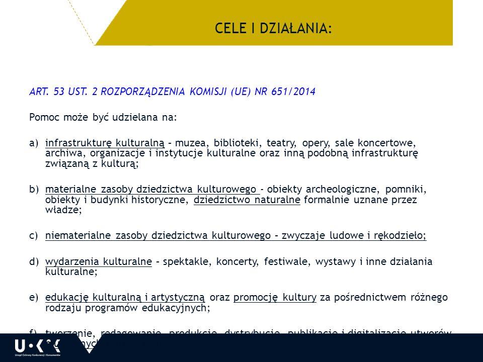 DOPUSZCZALNA MAKSYMALNA KWOTA POMOCY ART.53 UST.