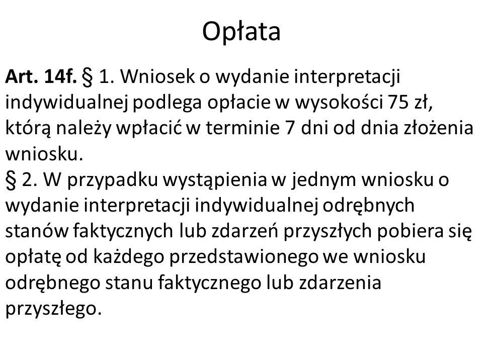 Opłata Art. 14f. § 1.
