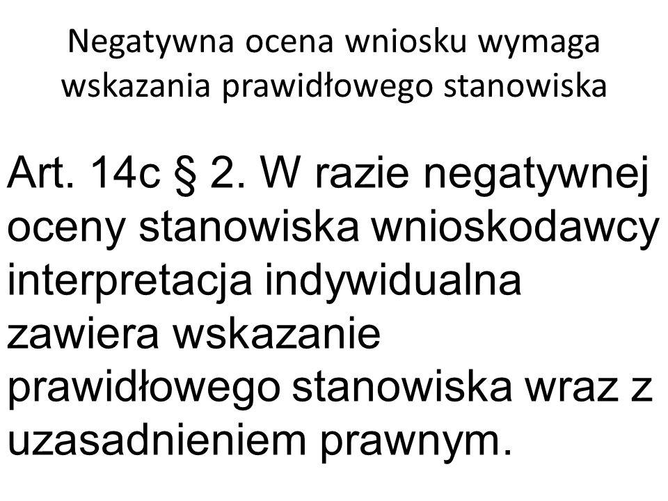 Obowiązek pouczenia Art.14c § 3.
