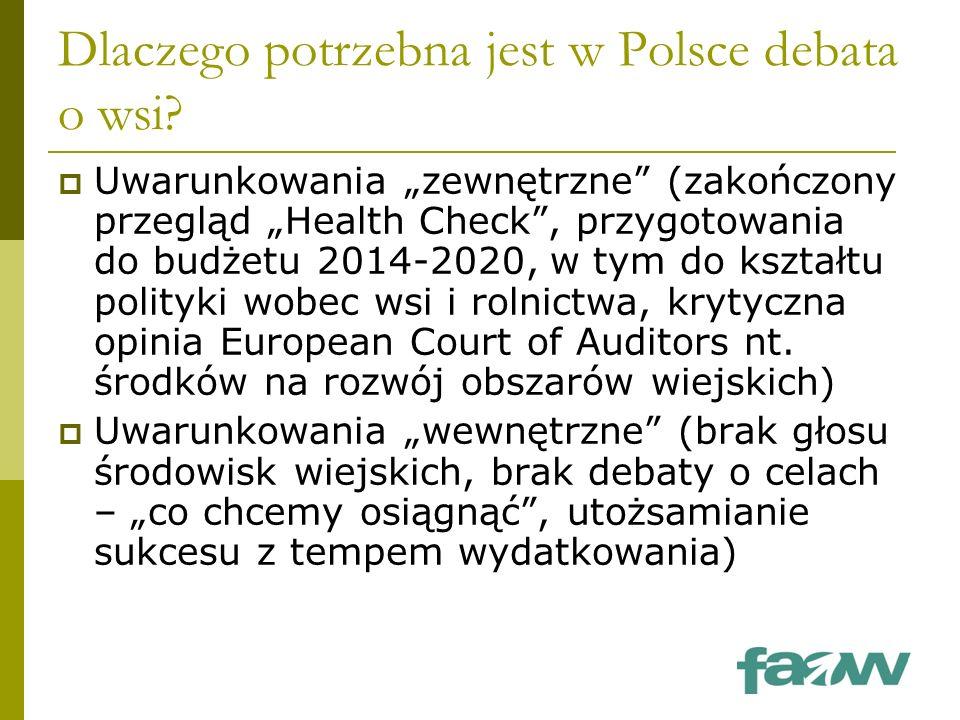 Dlaczego potrzebna jest w Polsce debata o wsi.