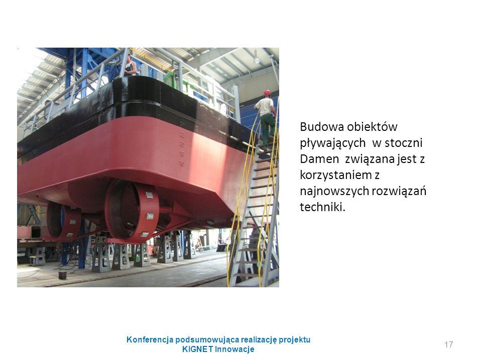 Budowa obiektów pływających w stoczni Damen związana jest z korzystaniem z najnowszych rozwiązań techniki. Konferencja podsumowująca realizację projek