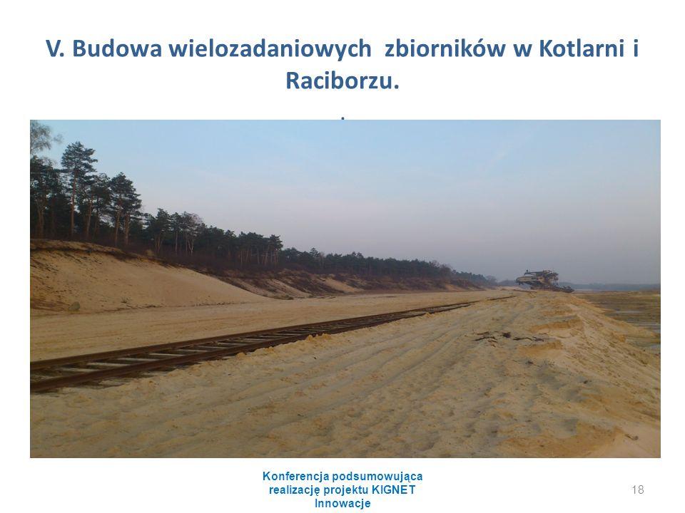 V. Budowa wielozadaniowych zbiorników w Kotlarni i Raciborzu.. Konferencja podsumowująca realizację projektu KIGNET Innowacje 18