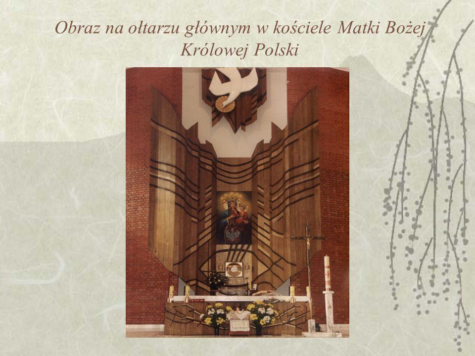 Obraz na ołtarzu głównym w kościele Matki Bożej Królowej Polski