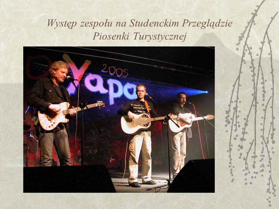 Występ zespołu na Studenckim Przeglądzie Piosenki Turystycznej