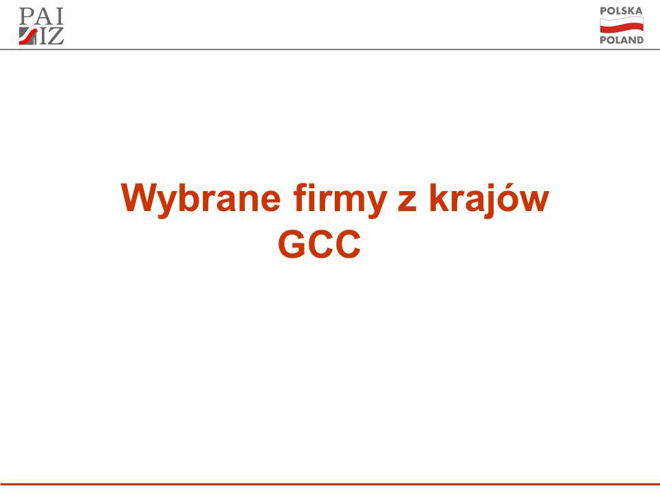Wybrane firmy z krajów GCC