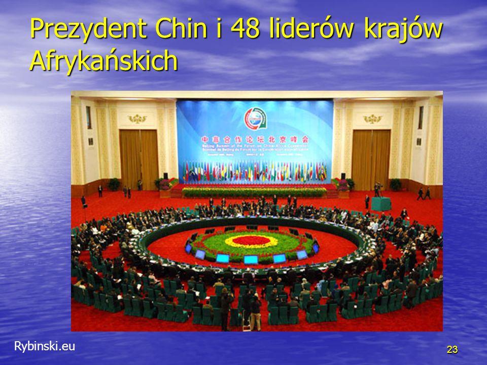 Rybinski.eu 23 Prezydent Chin i 48 liderów krajów Afrykańskich