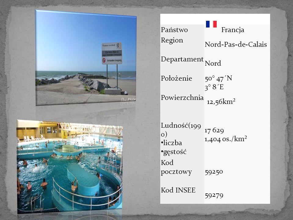 Państwo Francja Region Nord-Pas-de-Calais Departament Nord Położenie 50° 47´N 3° 8´E Powierzchnia 112,56km² Ludność(199 0) liczba gęstość 17 629 1,404 os./km² Kod pocztowy 59250 Kod INSEE 59279