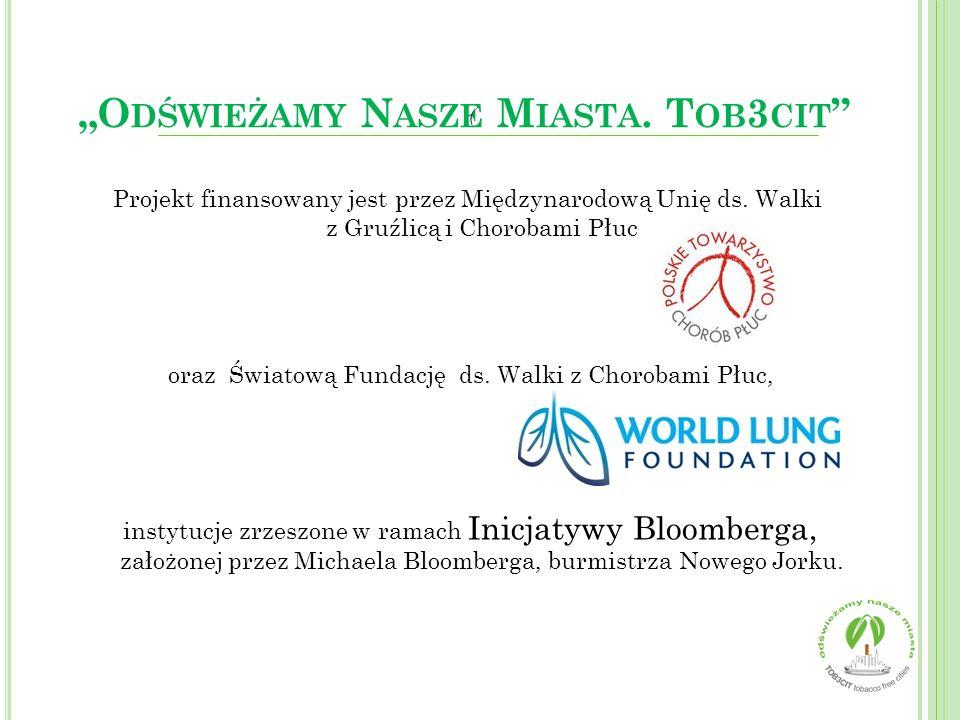 Projekt finansowany jest przez Międzynarodową Unię ds. Walki z Gruźlicą i Chorobami Płuc oraz Światową Fundację ds. Walki z Chorobami Płuc, instytucje