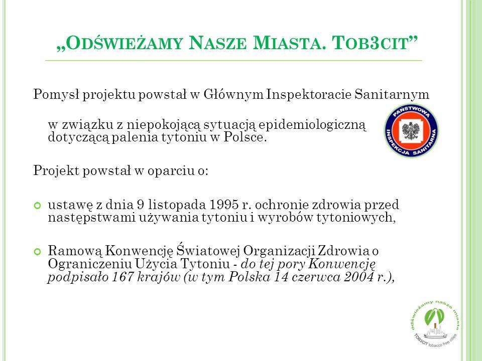 Pomysł projektu powstał w Głównym Inspektoracie Sanitarnym w związku z niepokojącą sytuacją epidemiologiczną dotyczącą palenia tytoniu w Polsce. Proje
