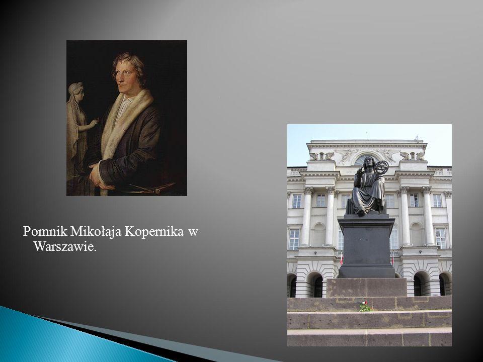 Pomnik Mikołaja Kopernika w Warszawie.