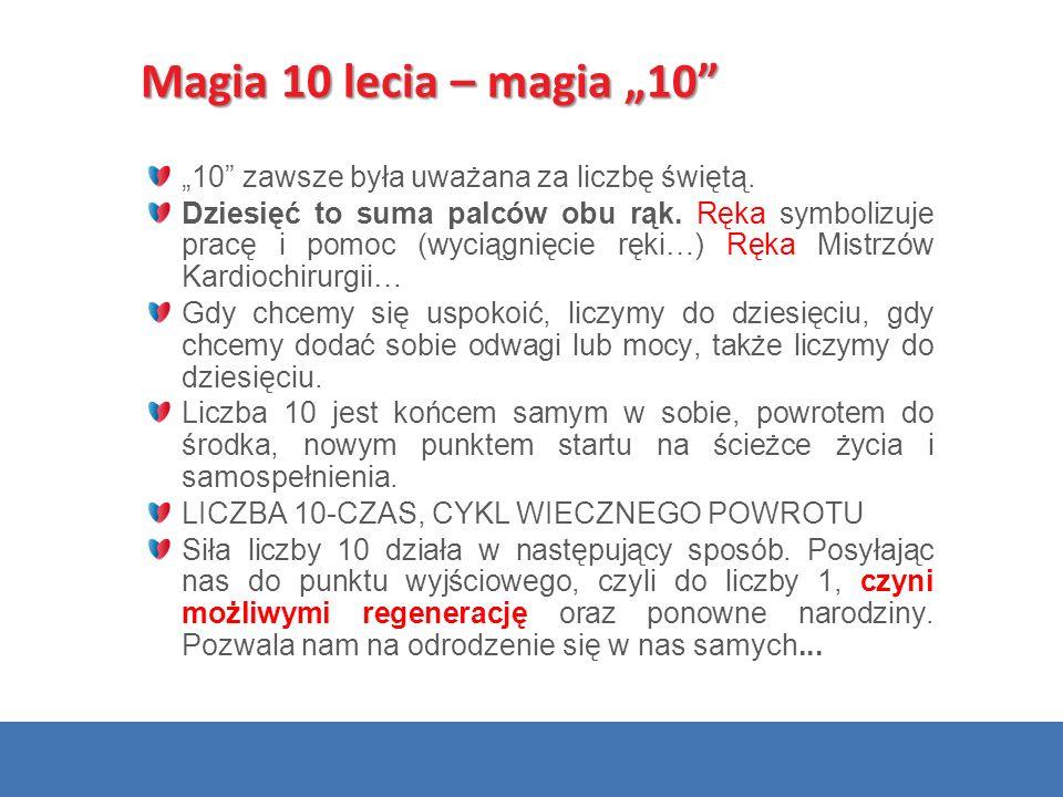 """Magia 10 lecia – magia """"10"""" """"10"""" zawsze była uważana za liczbę świętą. Dziesięć to suma palców obu rąk. Ręka symbolizuje pracę i pomoc (wyciągnięcie r"""
