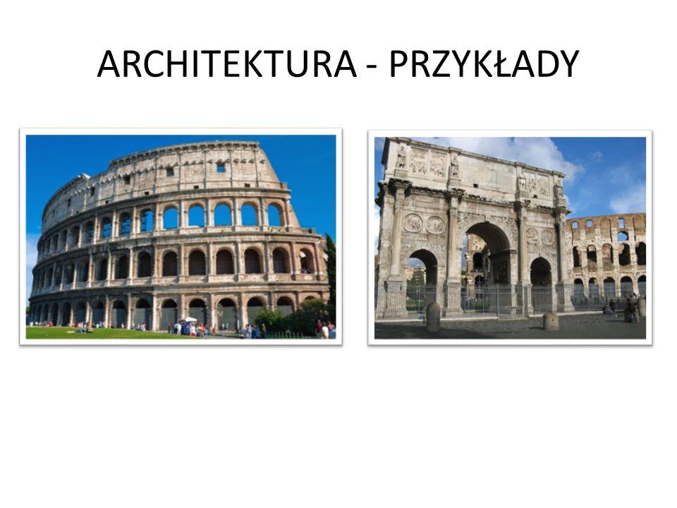 ARCHITEKTURA - PRZYKŁADY