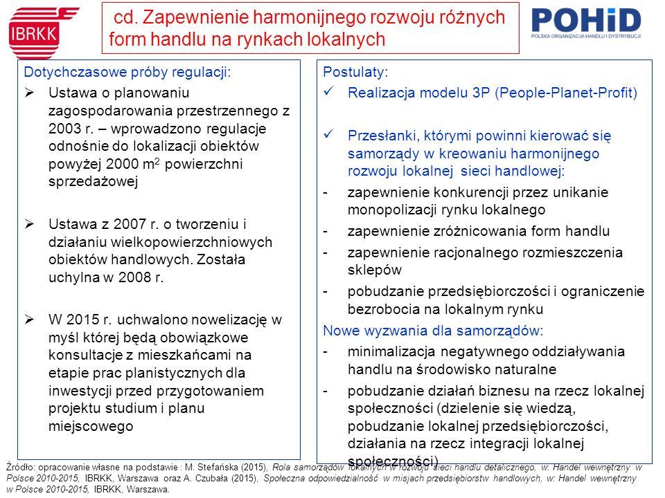 Dotychczasowe próby regulacji:  Ustawa o planowaniu zagospodarowania przestrzennego z 2003 r.