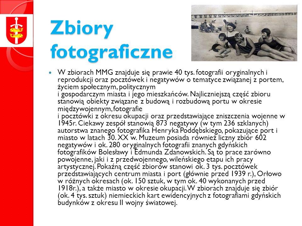Zbiory fotograficzne W zbiorach MMG znajduje się prawie 40 tys.
