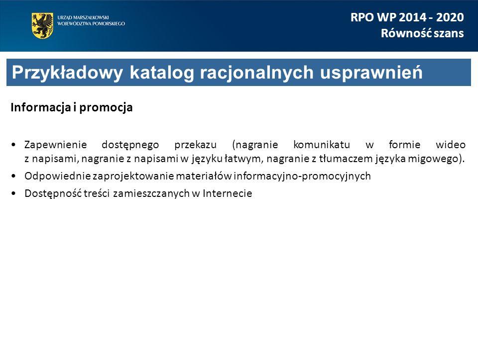 Informacja i promocja Zapewnienie dostępnego przekazu (nagranie komunikatu w formie wideo z napisami, nagranie z napisami w języku łatwym, nagranie z