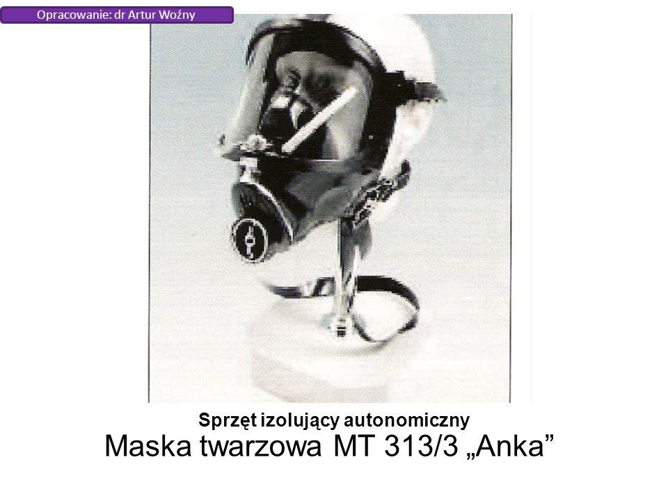"""Sprzęt izolujący autonomiczny Maska twarzowa MT 313/3 """"Anka Opracowanie: dr Artur Woźny"""