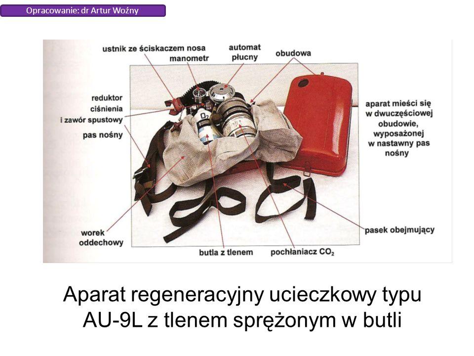Aparat regeneracyjny ucieczkowy typu AU-9L z tlenem sprężonym w butli Opracowanie: dr Artur Woźny