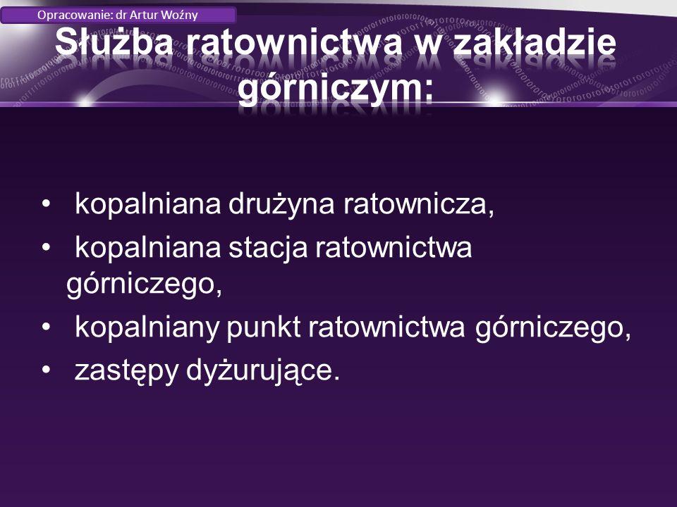 Sprzęt izolujący autonomiczny Aparat regeneracyjny typu W-70 Opracowanie: dr Artur Woźny