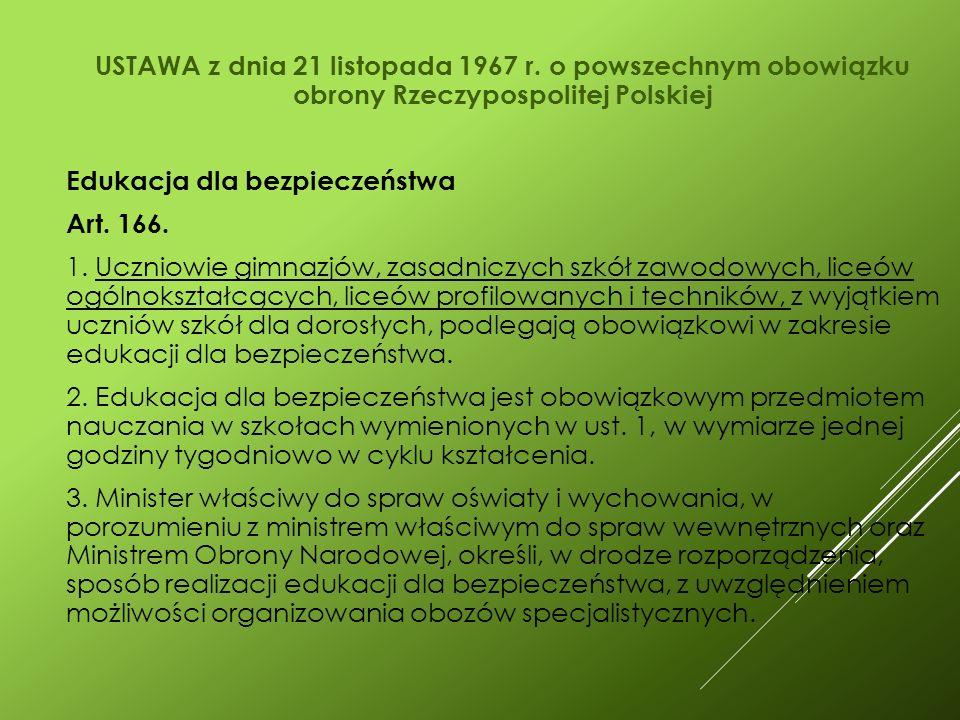 USTAWA z dnia 21 listopada 1967 r.