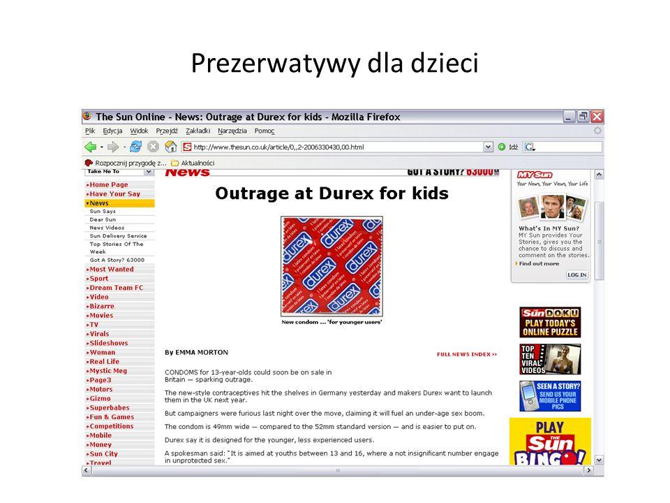Prezerwatywy dla dzieci