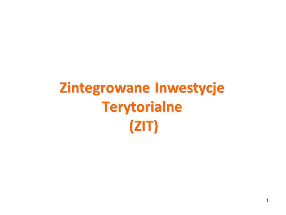 1 Zintegrowane Inwestycje Terytorialne (ZIT)