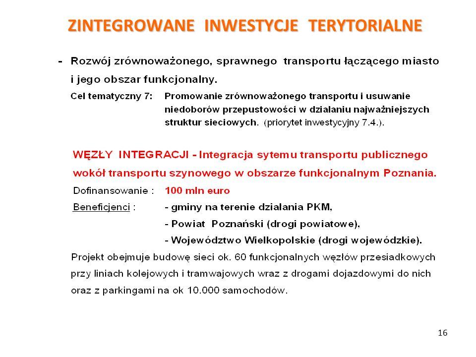 ZINTEGROWANE INWESTYCJE TERYTORIALNE 16