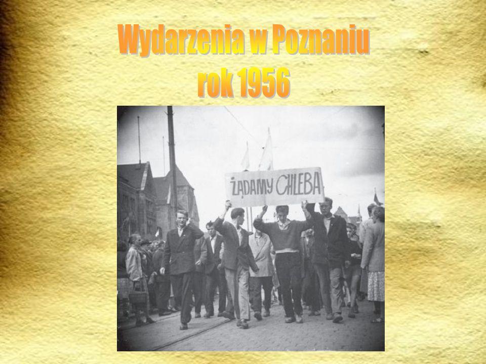 Pierwszy w PRL strajk generalny i demonstracje uliczne odbyły się końcem czerwca 1956 r.