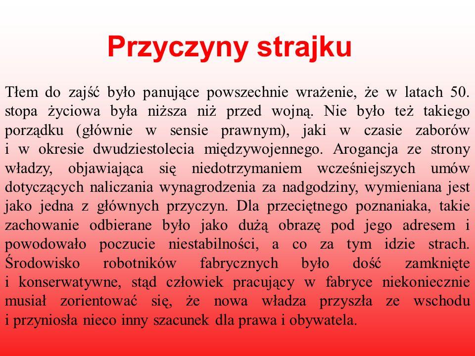 OFIARY Jeszcze w 1956 r.komunistyczne władze twierdziły, że na ulicach miasta zginęły 53 osoby.