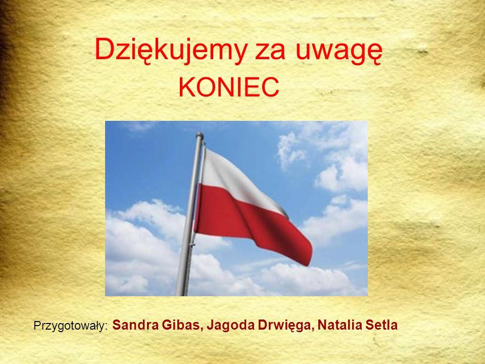 Dziękujemy za uwagę KONIEC Przygotowały: Sandra Gibas, Jagoda Drwięga, Natalia Setla