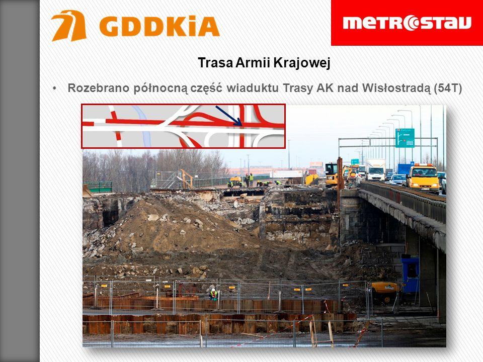 Rozebrano północną część wiaduktu Trasy AK nad Wisłostradą (54T) Trasa Armii Krajowej