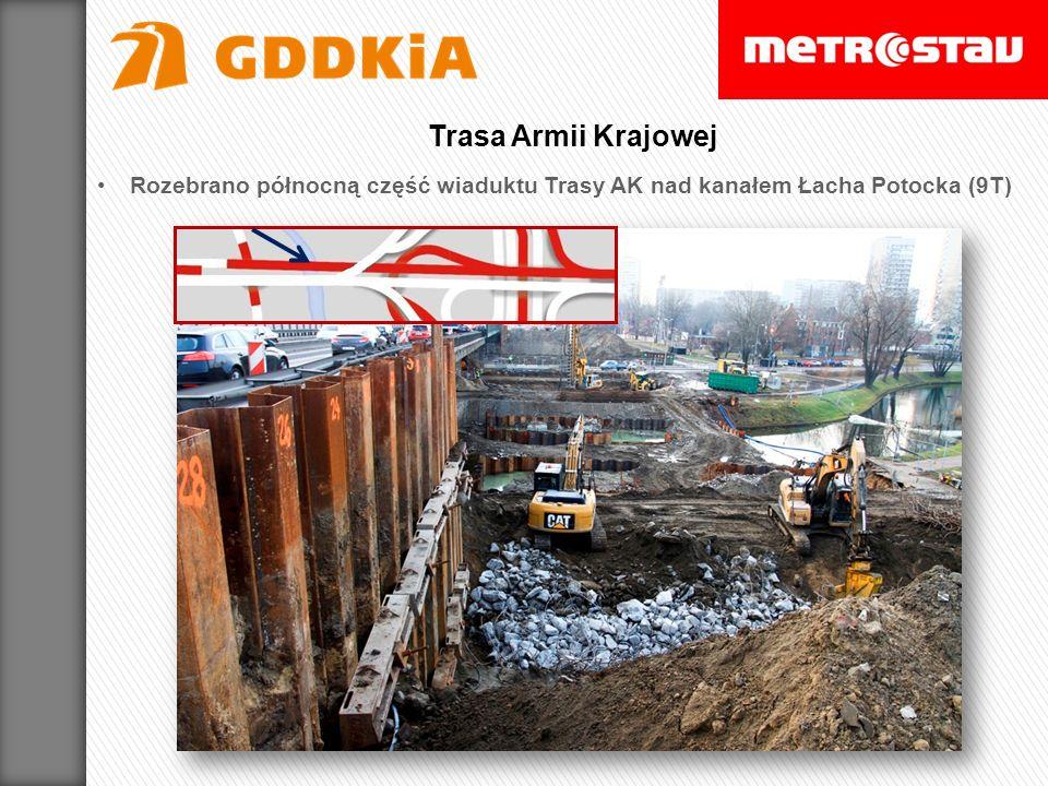Rozebrano północną część wiaduktu Trasy AK nad kanałem Łacha Potocka (9T) Trasa Armii Krajowej