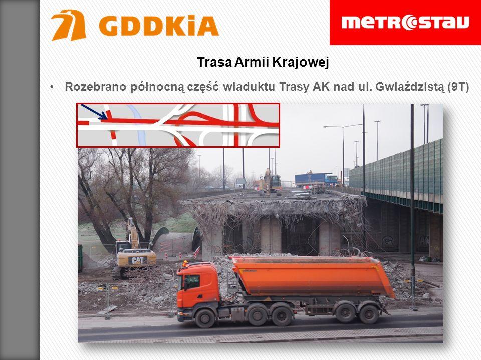 Rozebrano północną część wiaduktu Trasy AK nad ul. Gwiaździstą (9T) Trasa Armii Krajowej