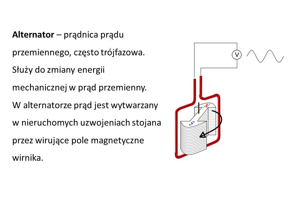 Alternator – prądnica prądu przemiennego, często trójfazowa. Służy do zmiany energii mechanicznej w prąd przemienny. W alternatorze prąd jest wytwarza