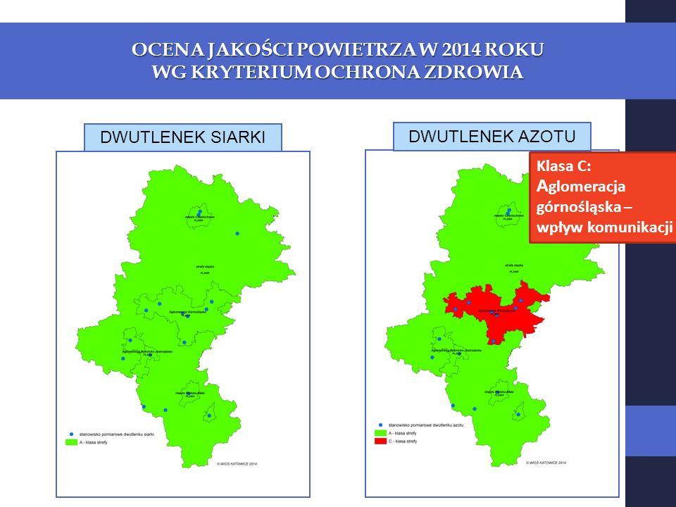 ŚLĄSKI MONITORING POWIETRZA WYNIKI POMIARÓW 2014 ROK