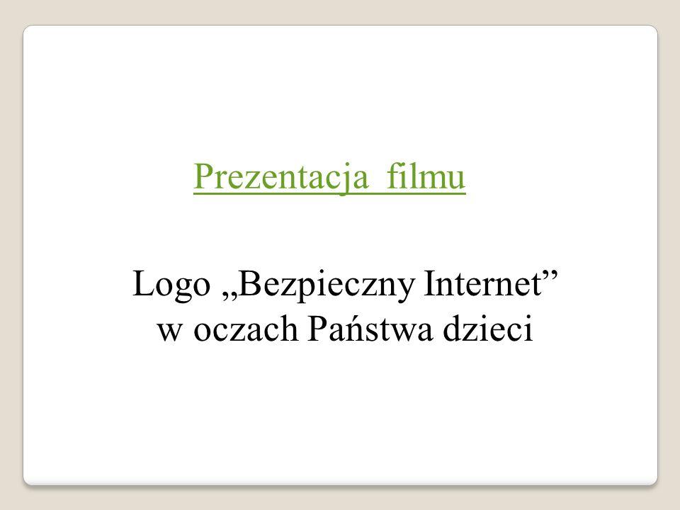 """Prezentacja filmu Logo """"Bezpieczny Internet w oczach Państwa dzieci"""