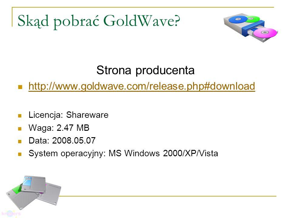 Skąd pobrać GoldWave.