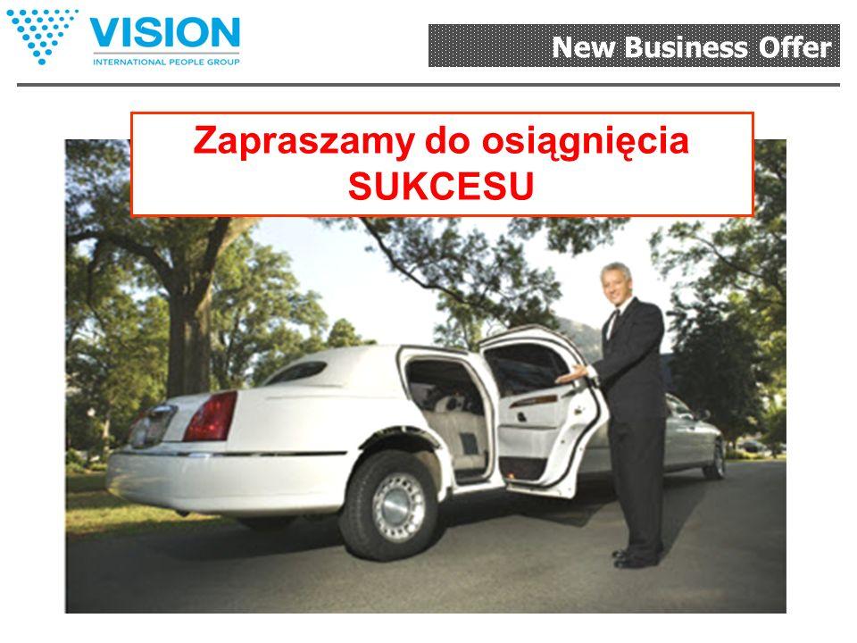 New Business Offer Wykorzystaj unikalne, współczesne, dostępne i efektywne możliwości biznesowe VISION i będziesz mógł: - wyrwać się z wyścigu szczuró