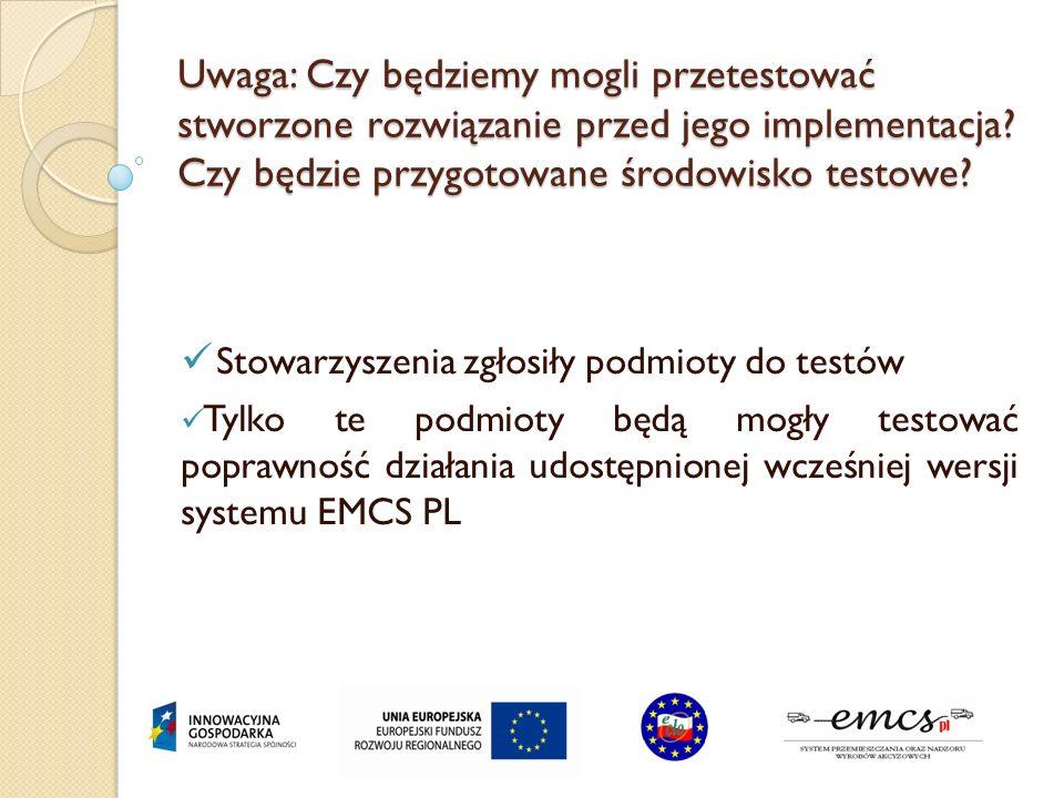 Uwaga: W dokumencie brak mowy o tym, w jaki sposób OSOZ w powiązaniu z EMCS PL traktował będzie wysyłki wyrobów akcyzowych z dodatkiem biokomponentów W OSOZ będzie zajmowane zabezpieczenie w wysokości uwzględniającej dodatek biokomponentu.