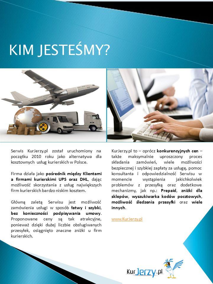 KIM JESTEŚMY? Serwis KurJerzy.pl został uruchomiony na początku 2010 roku jako alternatywa dla kosztownych usług kurierskich w Polsce. Firma działa ja