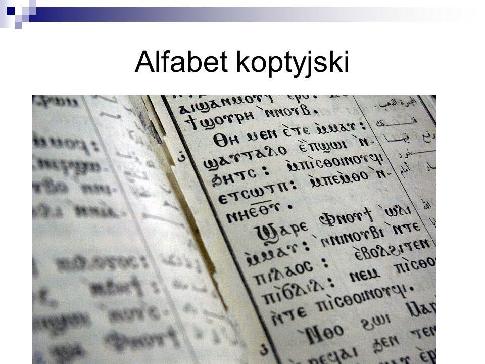 Alfabet koptyjski