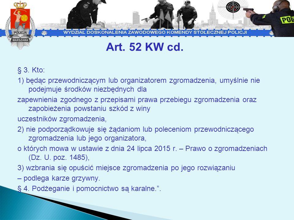 Art.52 KW - komentarz Mając na uwadze zapisy art.