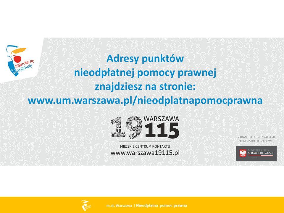 14 m.st. Warszawa | Nieodpłatna pomoc prawna