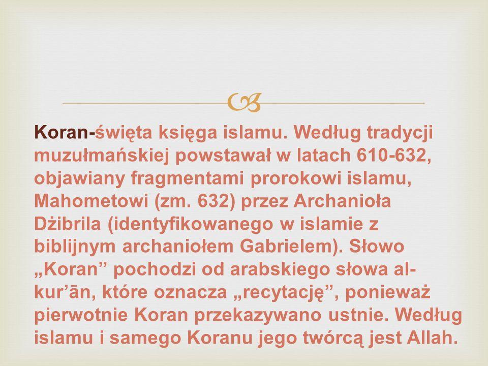  Koran-święta księga islamu.