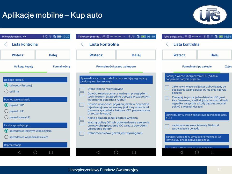 Ubezpieczeniowy Fundusz Gwarancyjny 12 Aplikacje mobilne – Kup auto