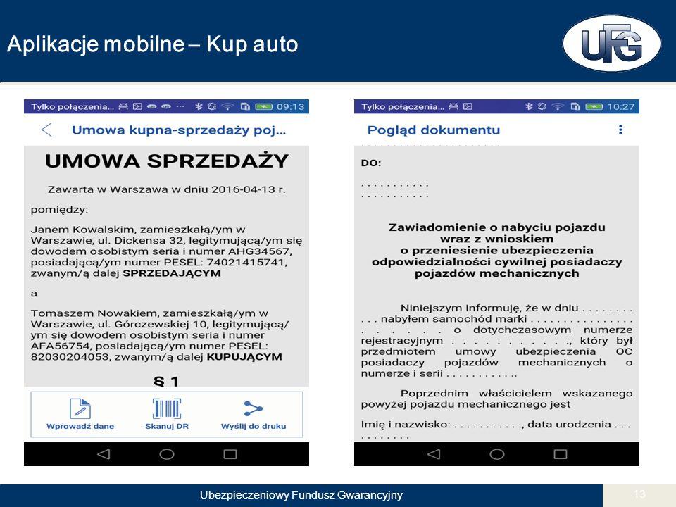 Ubezpieczeniowy Fundusz Gwarancyjny 13 Aplikacje mobilne – Kup auto