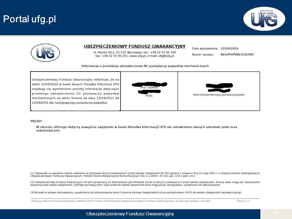 Ubezpieczeniowy Fundusz Gwarancyjny 19 Portal ufg.pl