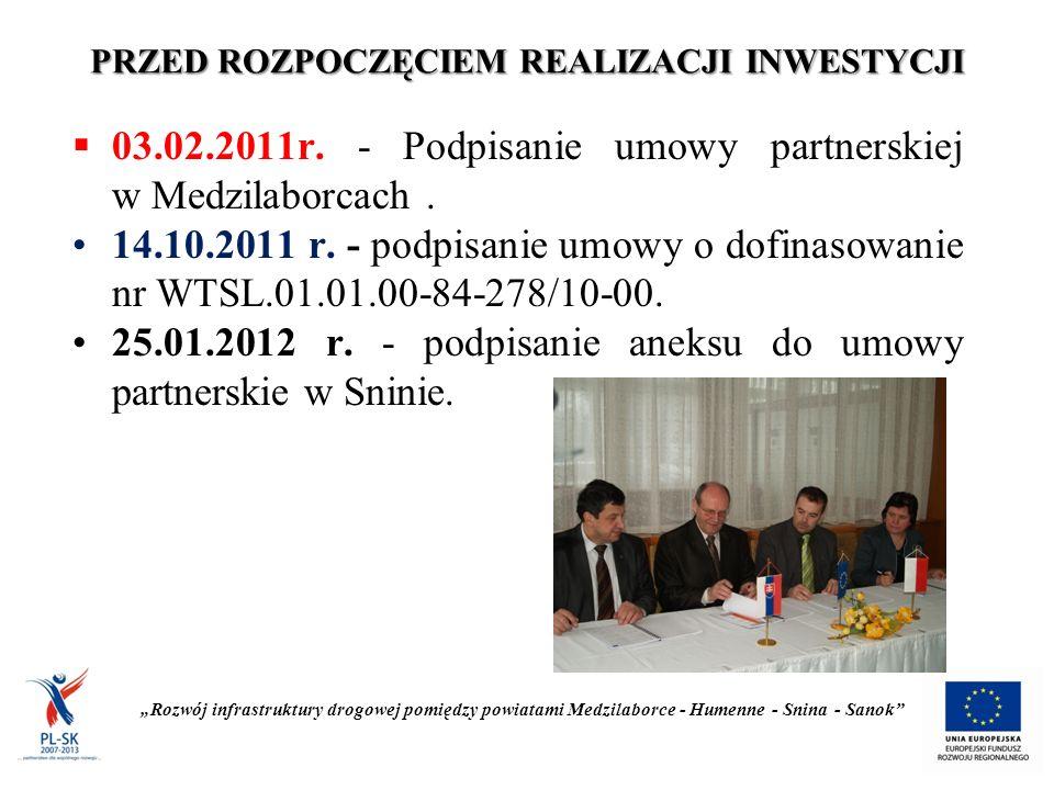 """POSTĘP PRAC Układanie warstwy mineralno - bitumicznej """"Rozwój infrastruktury drogowej pomiędzy powiatami Medzilaborce - Humenne - Snina - Sanok"""